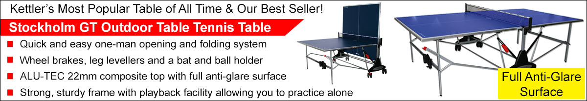 Click here to see the Kettler Stockholm Table Tennis Table