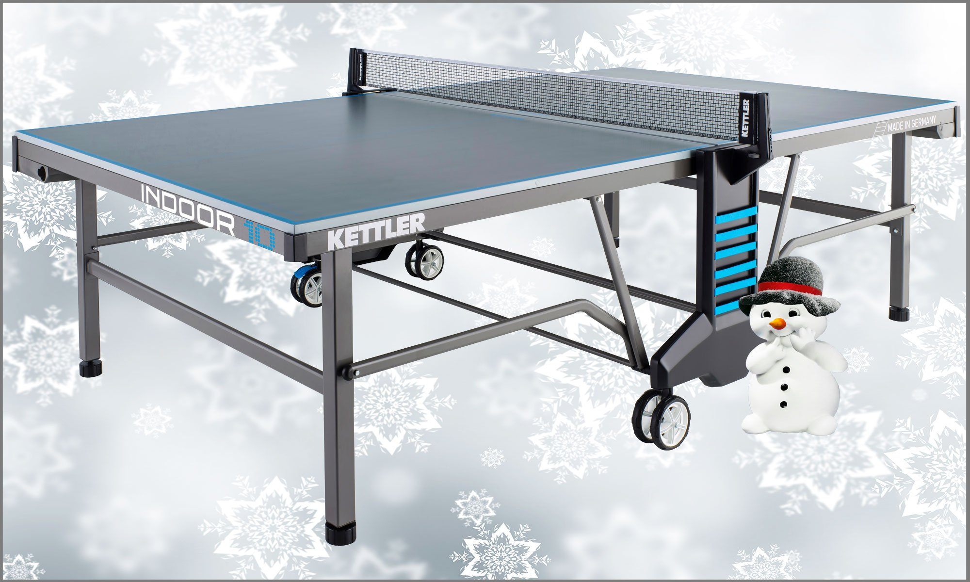 Kettler classic indoor 10 table tennis table grey for Table kettler