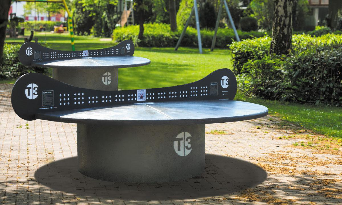 Concrete T3 Tournament Outdoor Ping Pong Table