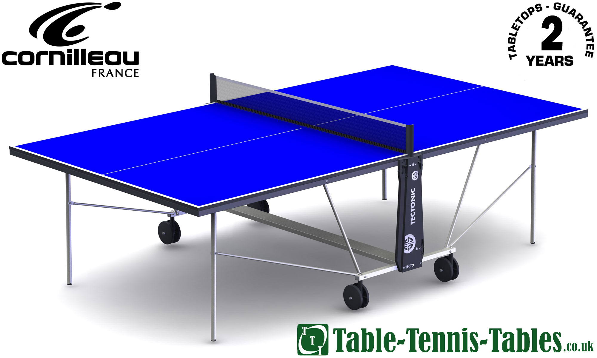 Cornilleau tectonic tecto 50 indoor table tennis table - Full size table tennis table dimensions ...