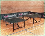 Butterfly Flexi table tennis tables can split to be 2 mini tables