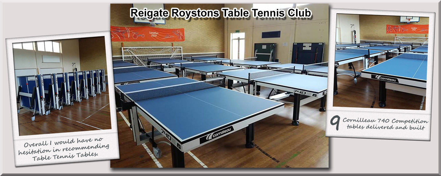 Reigate Roystons Table Tennis Clubs Cornilleau 740 competition tables
