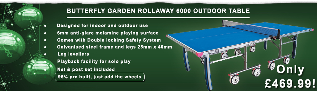 Butterfly Garden Rollaway 6000 Outdoor Table Tennis Table