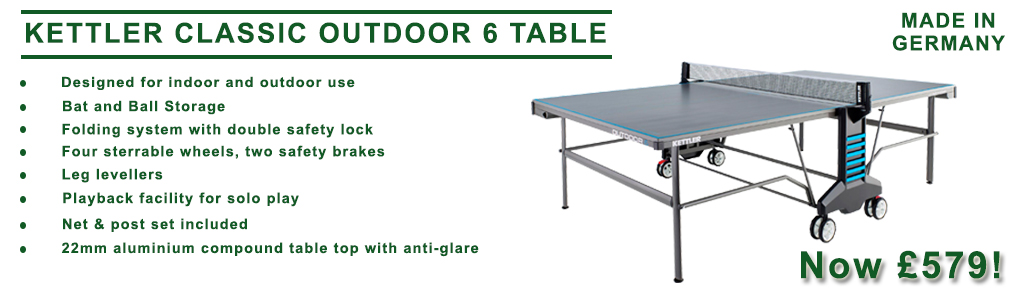 Kettler Classic 6 Outdoor Table Tennis Table