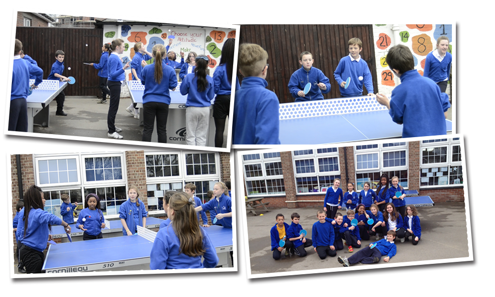 Cornilleau 510 Pro static outdoor tables at Kings Road Primary