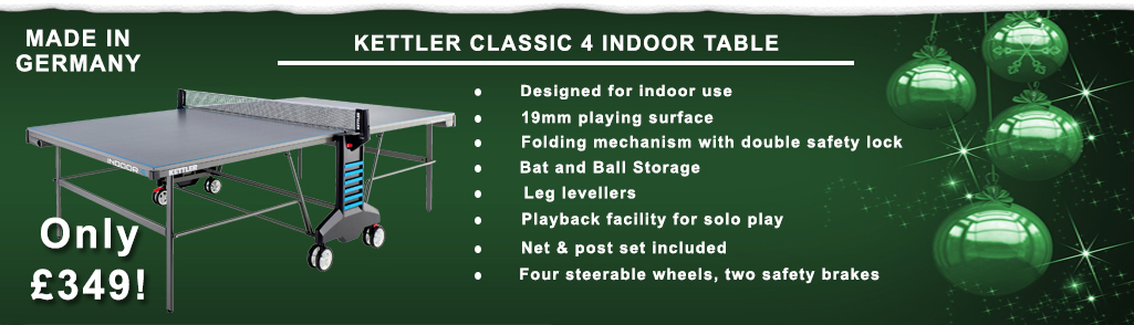 Kettler Classic Indoor 4 Table Tennis Table