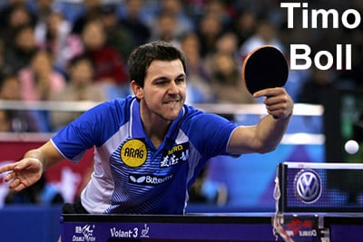 Timo Boll is sponsored by Butterfly