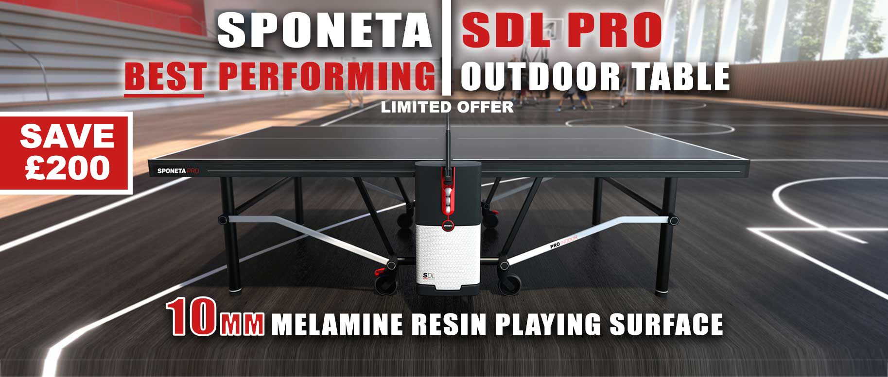 Sponeta SDL Pro Outdoor Table Tennis Table