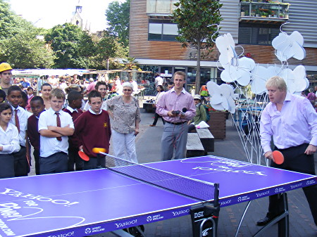 Boris Johnson Playing Table Tennis
