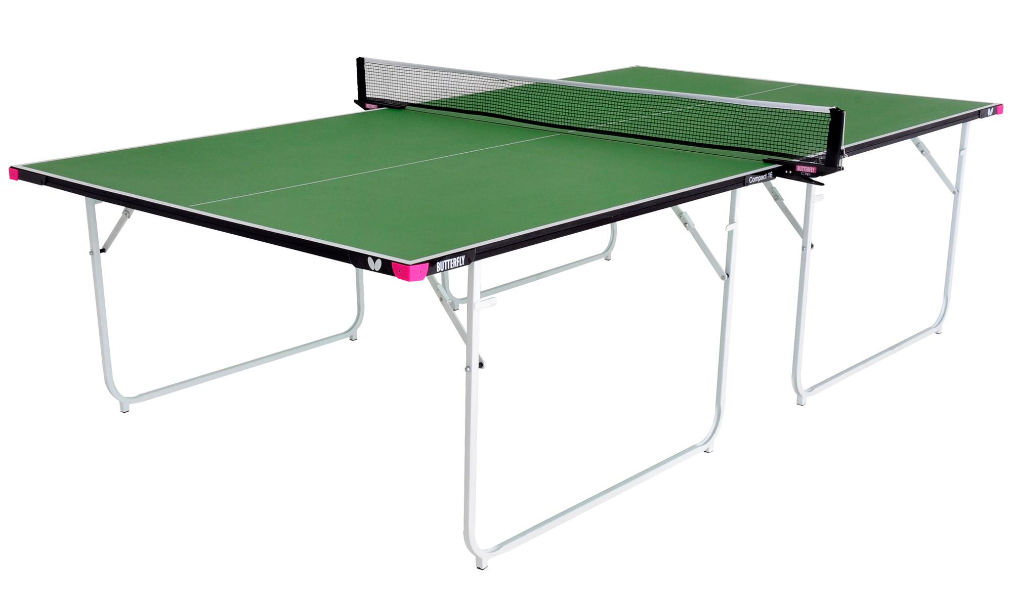 Butterfly compact 16 indoor table tennis table - Full size table tennis table dimensions ...