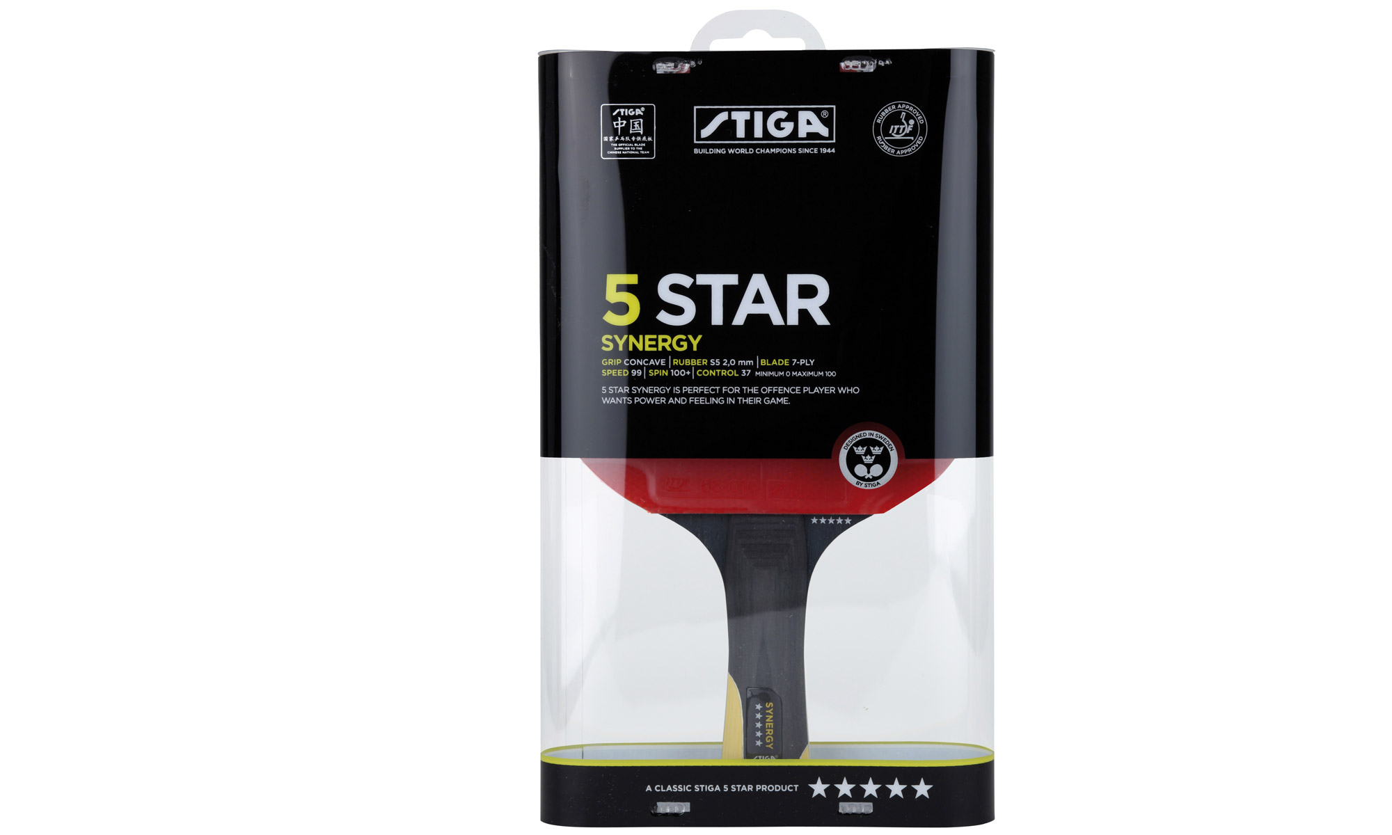 Stiga 5 Star Synergy Table Tennis Bat