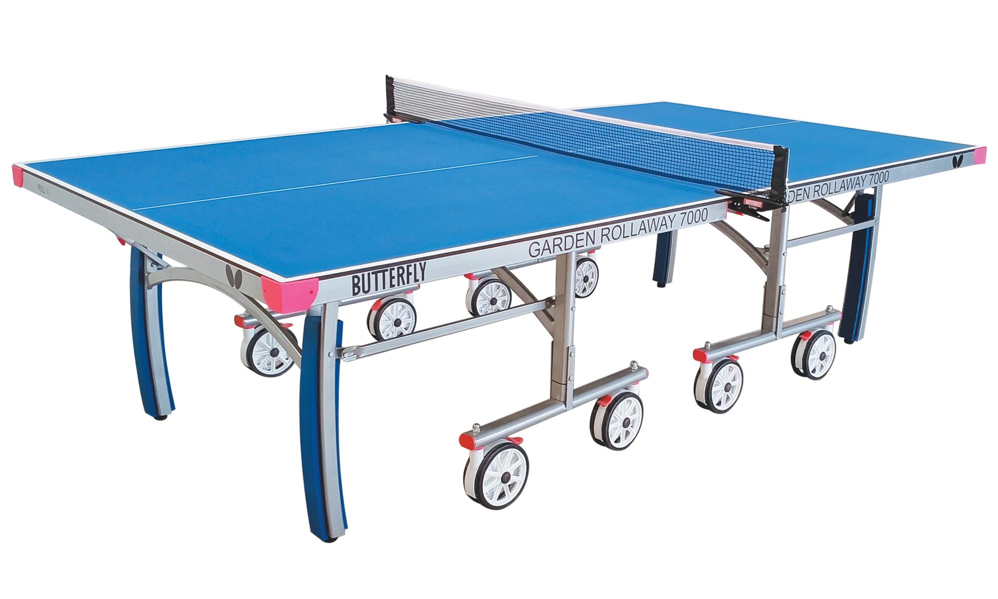 Butterfly Garden Rollaway 7000 Outdoor Table Tennis Table