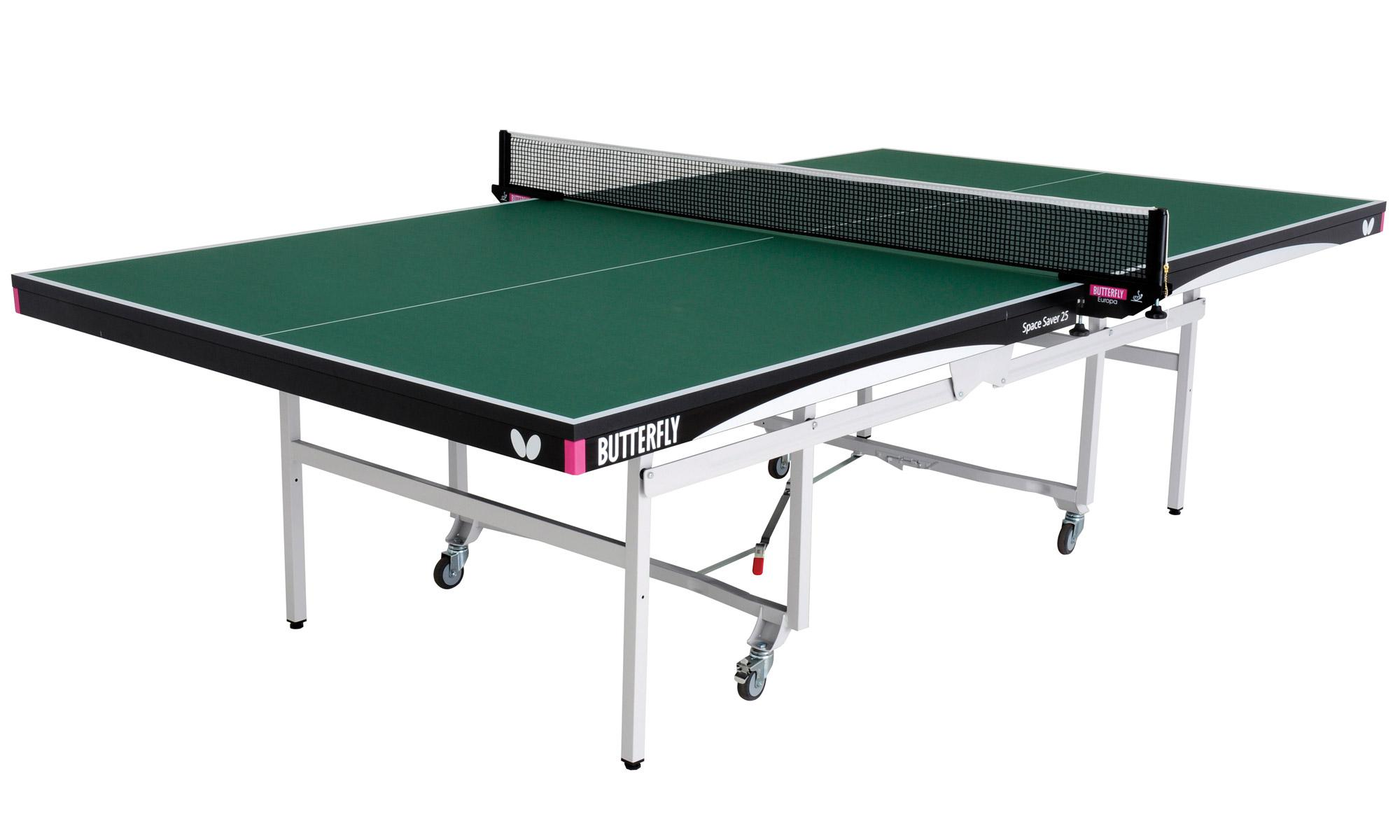 Butterfly space saver indoor rollaway 25 table tennis table for Table tennis