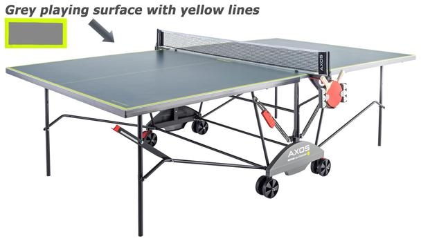 Kettler Axos Outdoor 3 Table Tennis Table Grey