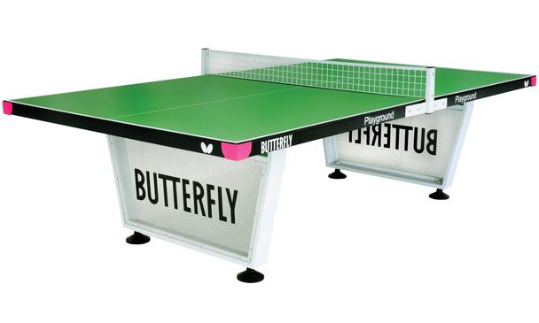 Butterfly Playground Green Outdoor Table Tennis Table