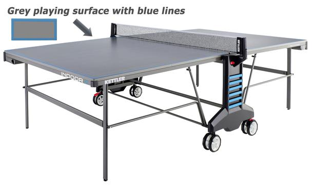 Kettler Classic Indoor 4 Table Tennis Table Grey