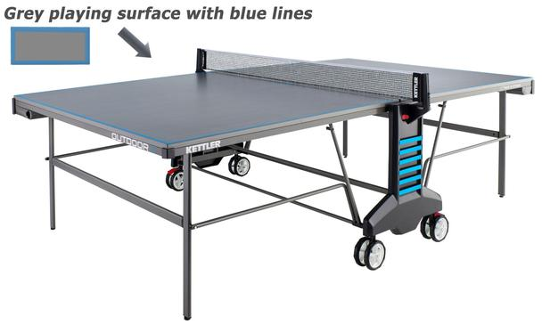 Kettler Classic Outdoor 4 Table Tennis Table Grey