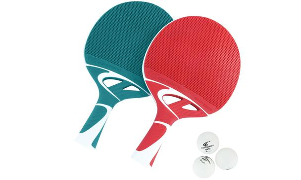 Cornilleau Tacteo Composite Duo Set (Red & Turquoise Set)