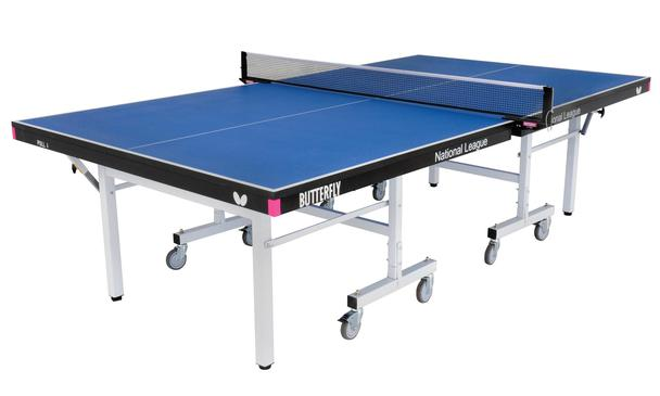 Butterfly National League 25 Rollaway Blue Indoor Table Tennis Table