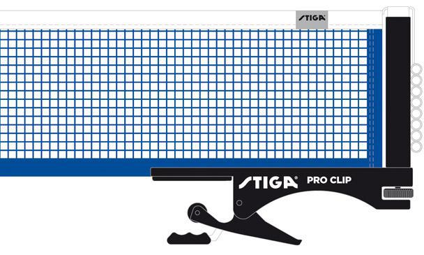 Stiga Pro Clip Net Post Set