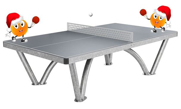 Cornilleau Park Outdoor Table Tennis Table With Christmas Background