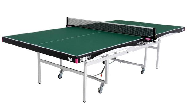 Green Butterfly Space Saver 25 Rollaway Indoor Table Tennis Table