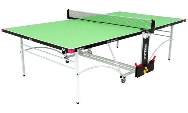 Butterfly Spirit 10 Green Outdoor Rollaway Table Tennis Table