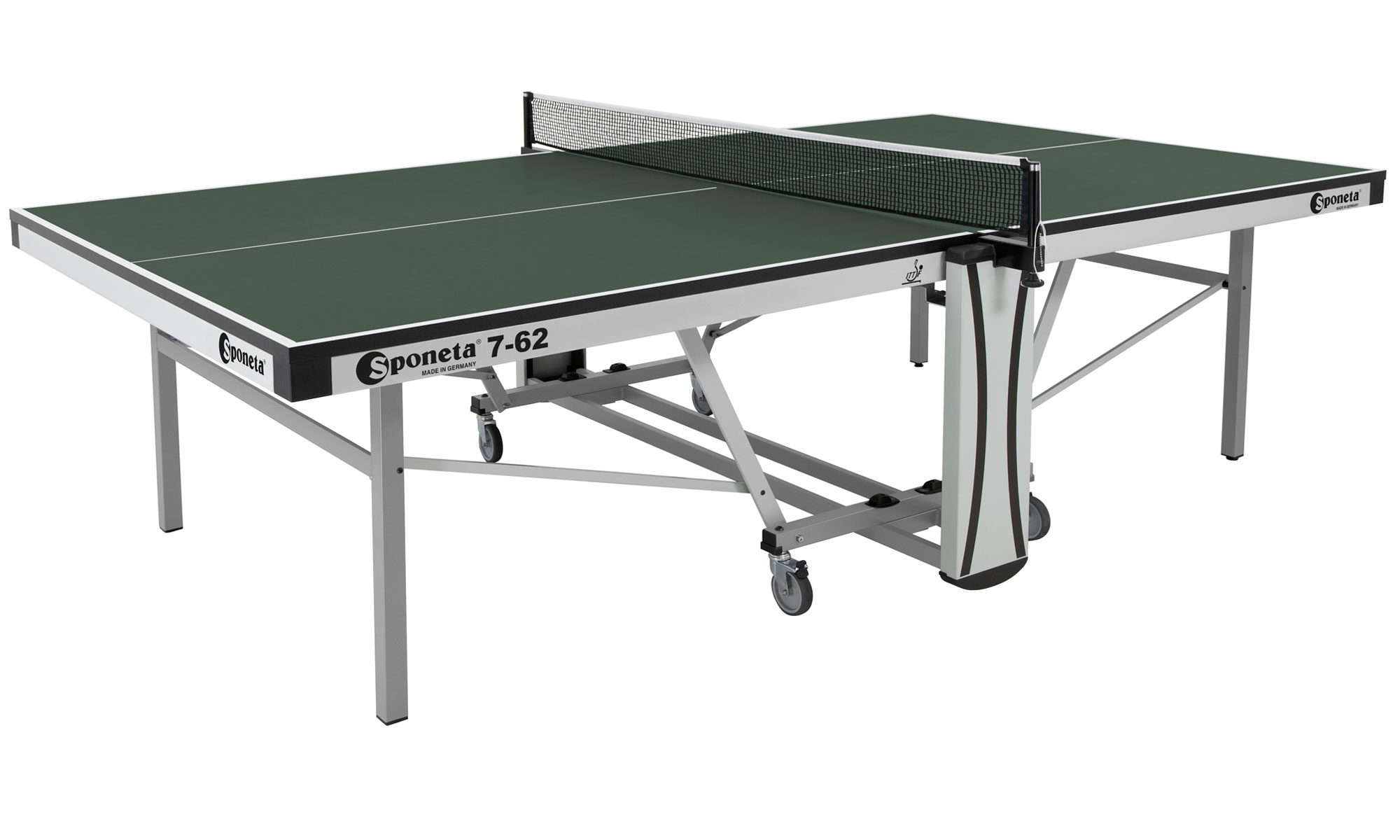 Sponeta Auto Compact ITTF Indoor table tennis table in Green