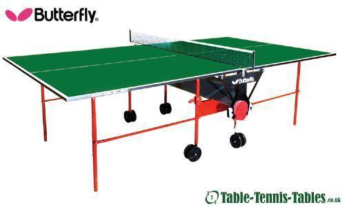 Butterfly Indoor Green Home Rollaway Table Tennis Table: Discontinued