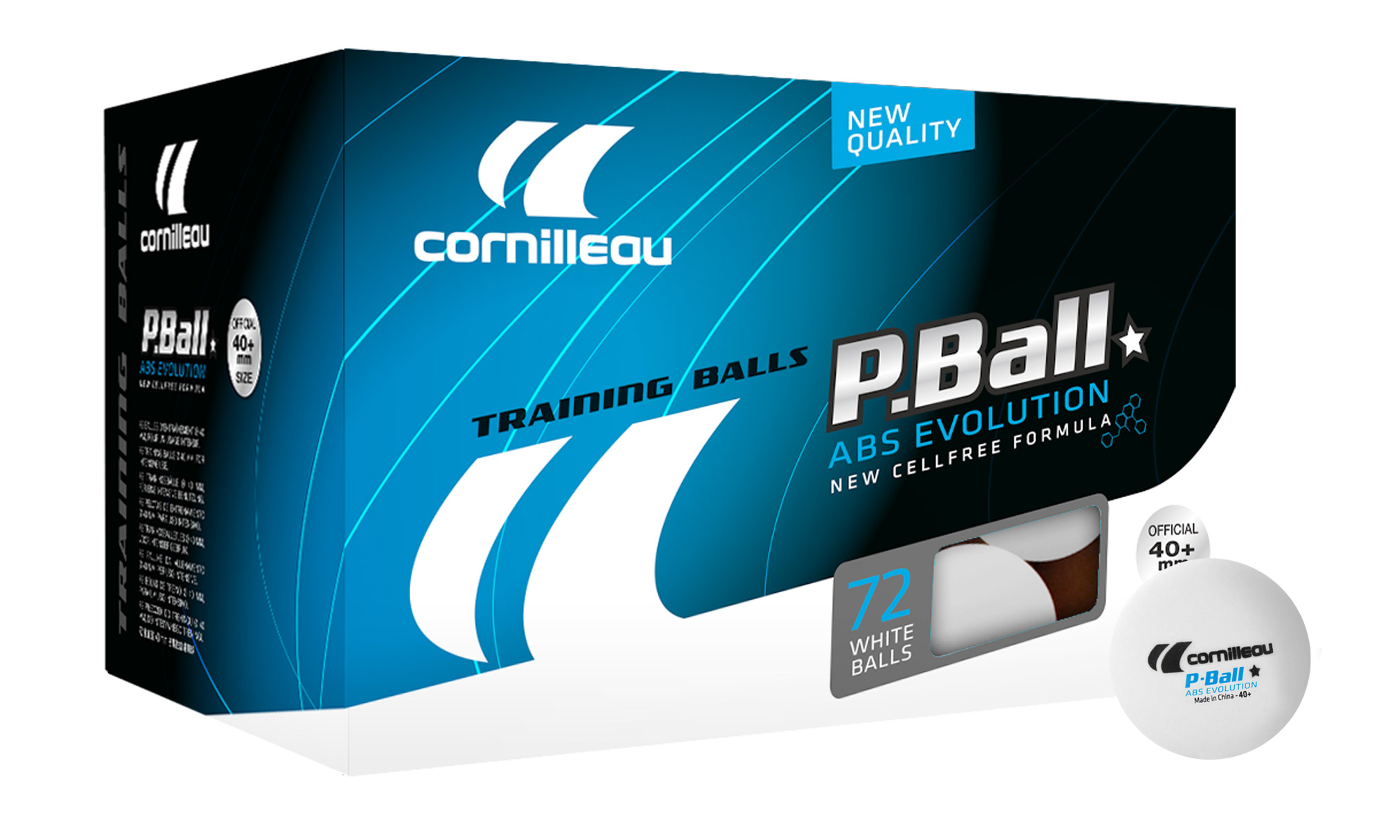 Cornilleau P-Balls ABS Evolution 1 Star Balls - Box of 72